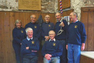 Bellringers at Stone in oxney church