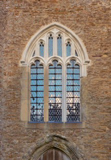 Stone church west window after works