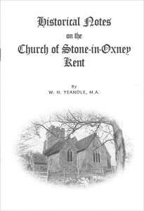Stone Church historical notes - front cover