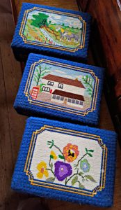 Church kneelers made by Stone WI
