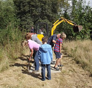Making a path at Stone in Oxney