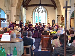 Canterbury choristers at Stone in oxney church