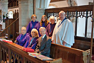 Choir at stone in oxney church