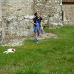 Child's parachute at base of Stone in Oxney church tower