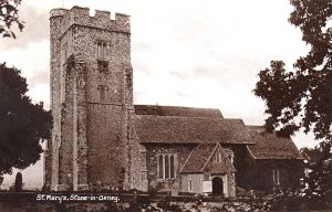 Historic view of St Mary the Virgin Church, Stone-in-Oxney