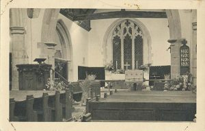 Chancel of St Mary the Virgin Church, Stone-in-Oxney, 1949