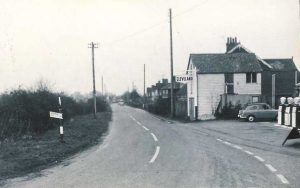 The Street from the Crown Inn with Petrol Station