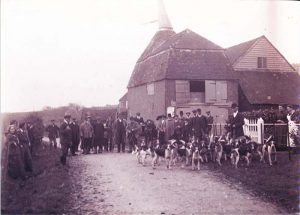 The hunt from Stone Green Farm 1900s