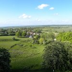View from the tower, Stone in Oxney flower festival 2017